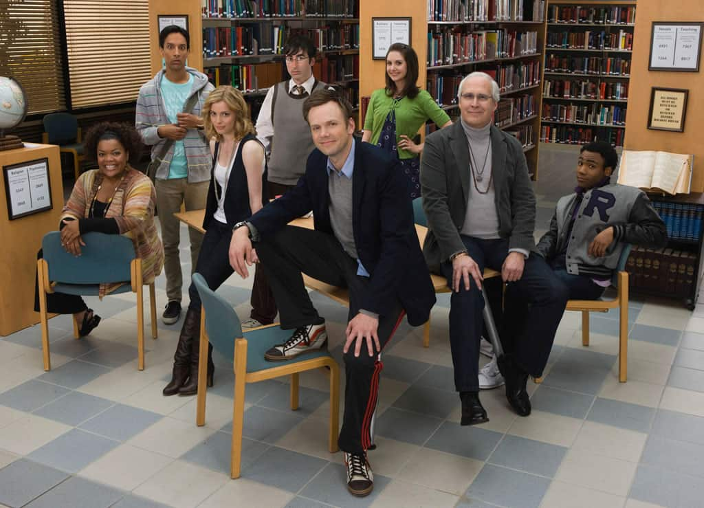 De veloplagte hovedpersoner i Dan Harmons vanvittigt underholdende, meta-begavede Community