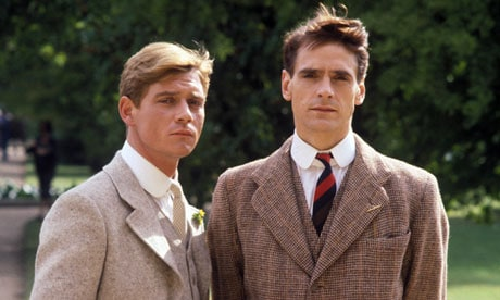 Anthony Andrews som Sebastian Flyte og Jeremy Irons som Charles Ryder i Brideshead Revisited