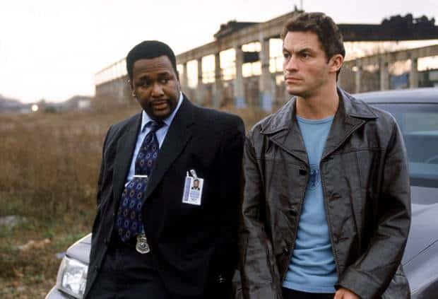 Wendell Pierce som Bunk og Dominic West som McNulty i David Simons fantastiske The Wire